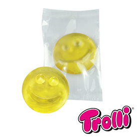1-er Fruchtgummi Smiley in neutraler Folie