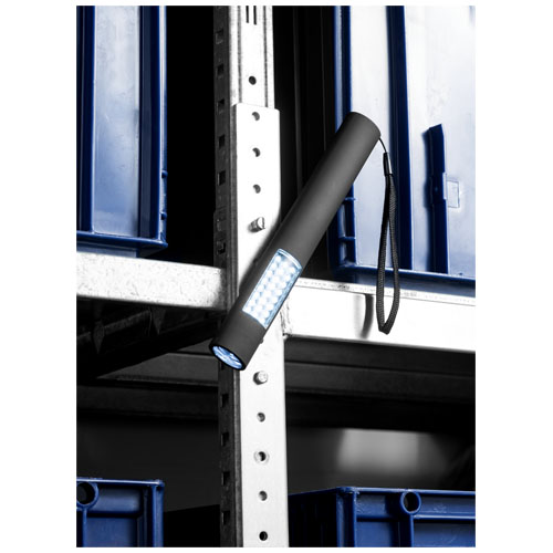 magnet taschenlampe mit 28 leds in schwarz kleine. Black Bedroom Furniture Sets. Home Design Ideas