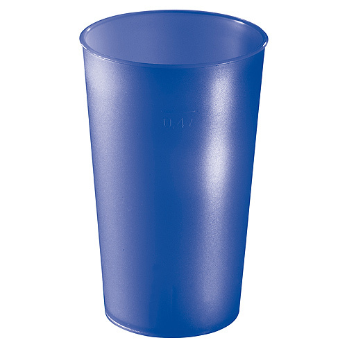 Trinkbecher Colour 0,4 l, neon-blau