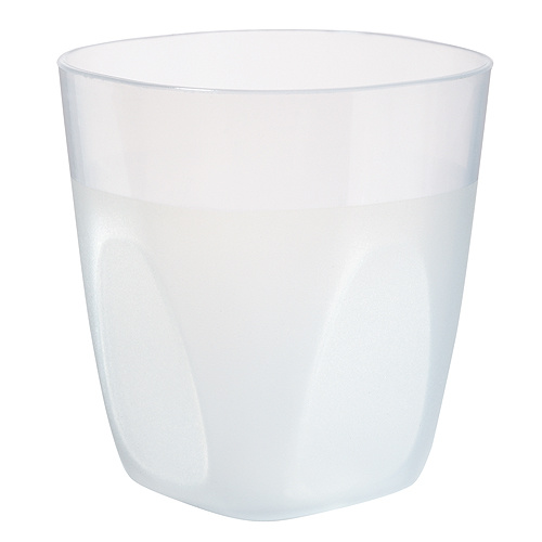 Trinkbecher Mini Cup 0,2 l, transparent-milchig