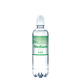 Quellwasser, 500 ml, medium (Sportcap)