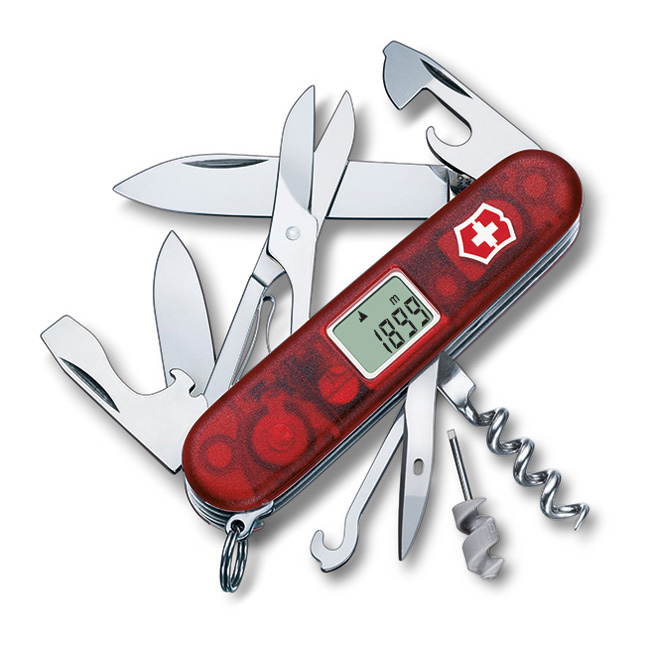 Schweizer Messer Traveller in rot transparent – Nr. 24-13705 AVT